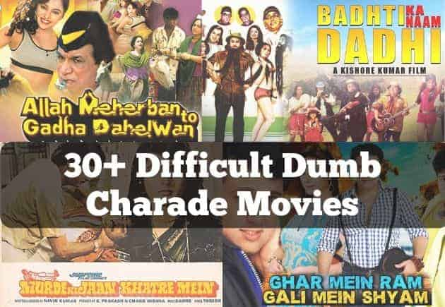 difficult movies for dumb charades