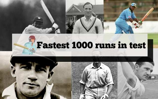 fastest 1000 runs in test